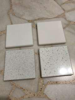 Material sample / interior design / sample / solidsurface / counter top/ stone / marble sample