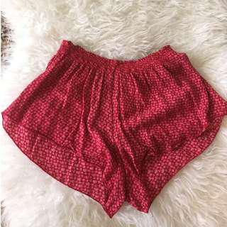 Brandy Melville red flow shorts
