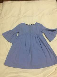 Zara Girls Light Blue Dress