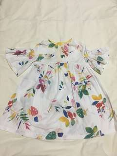 Zara Girls Floral Printed Dress