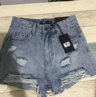 Glassons denim shorts size 6 NEW RRP $29.95