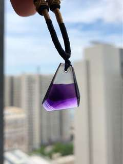 紫水晶隨形吊墜