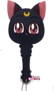 SailorMoon black car mirror keychain