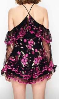 Wanted : floral lace playsuit