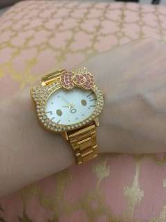Hello Kitty Rose gold colour Watch 手錶  Chanel Hermes