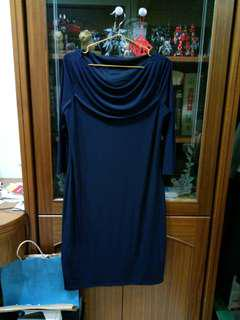 🚚 Esprit深藍7分袖洋裝