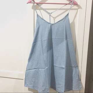 Pull & Bear Overall Dress Denim