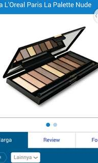 Loreal palette nude color