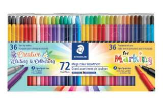 Staedtler 72 Mega Colour Assortment Creative writing & colouring (Back to School)