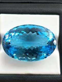 64.6克拉 瑞士藍拓帕石