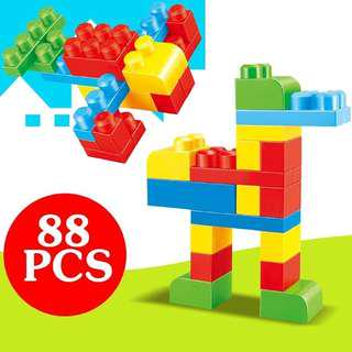Kids 88pcs Mega Builder Blocks Lego Toys