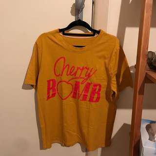 Cherry bomb t-shirt top