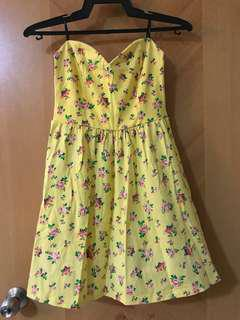 Floral Dress (Forever 21) strapless