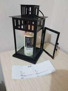 Lantern for block candle