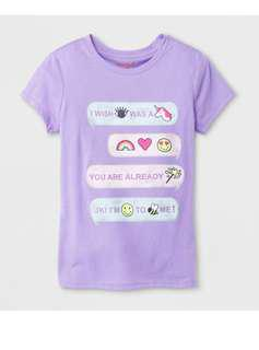 Cat & Jack 童裝紫色Tee XL