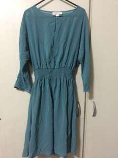 Forever21 Chiffon Dress in Teal