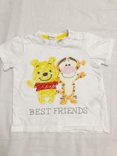 H&M Winnie the Pooh white tee