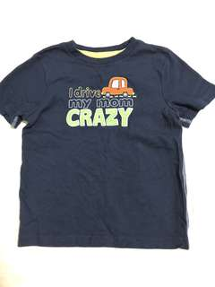 I drive my mom crazy Tee in blue