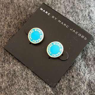 Marc by Marc Jacobs Earrings Aqua/gold 天藍拼金色耳環