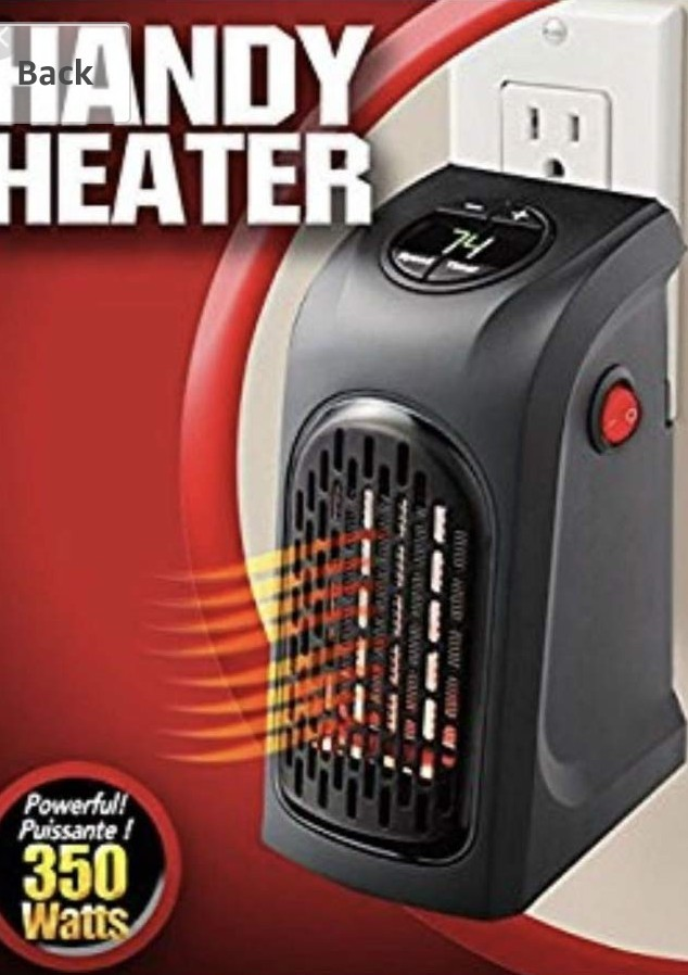 (497)5 0 out of 5 stars 1Reviews, Handy Heater Plug-In 350 watts Wall  Heater Electric Air Radiator Warmer Bathroom