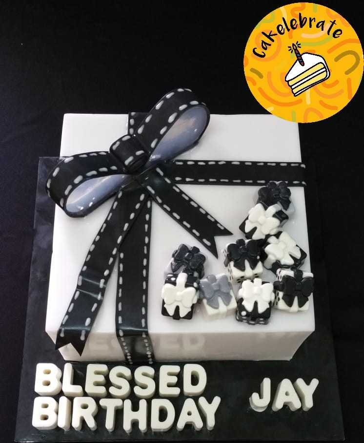 7 Gift Box Jelly Birthday Cake For Adults Food Drinks Baked