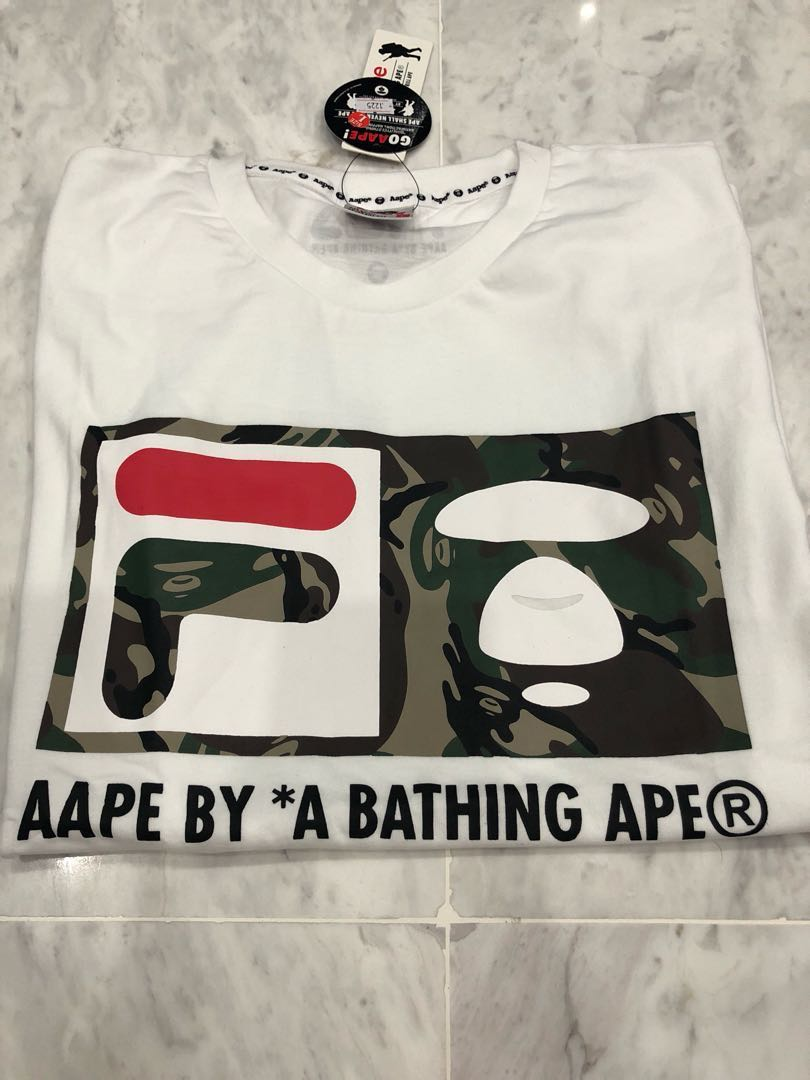 9e5e77e05 BNWT FILA BY A BATHING APE T-SHIRT, Men's Fashion, Clothes, Tops on ...