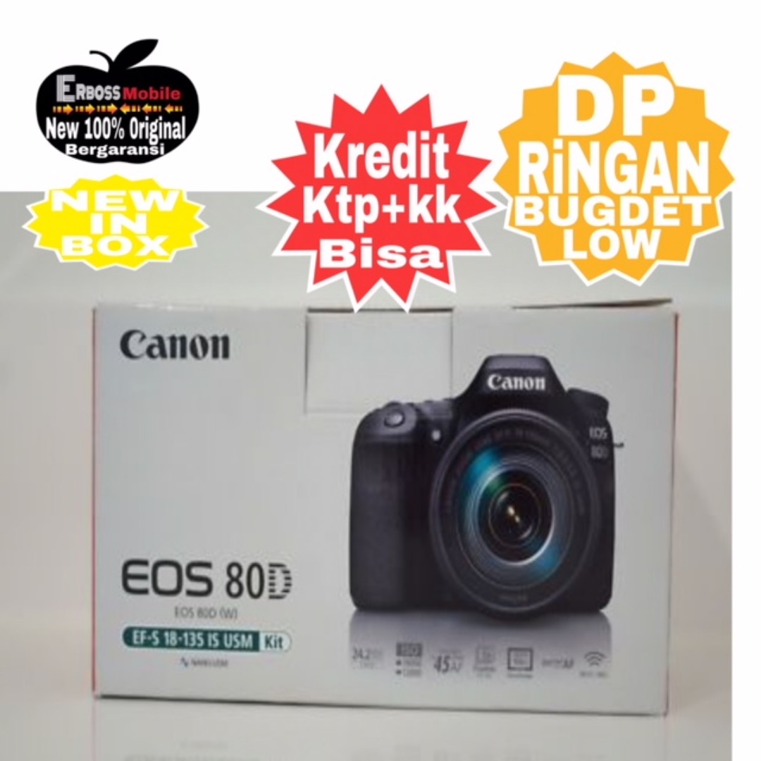 Canon Eos 80d Kit 18 55mm Resmi Cash Kredit Tanpa Cc Wa Call Body Only Bergaransi Datascrip Call081905288895 Fotografi Di Carousell