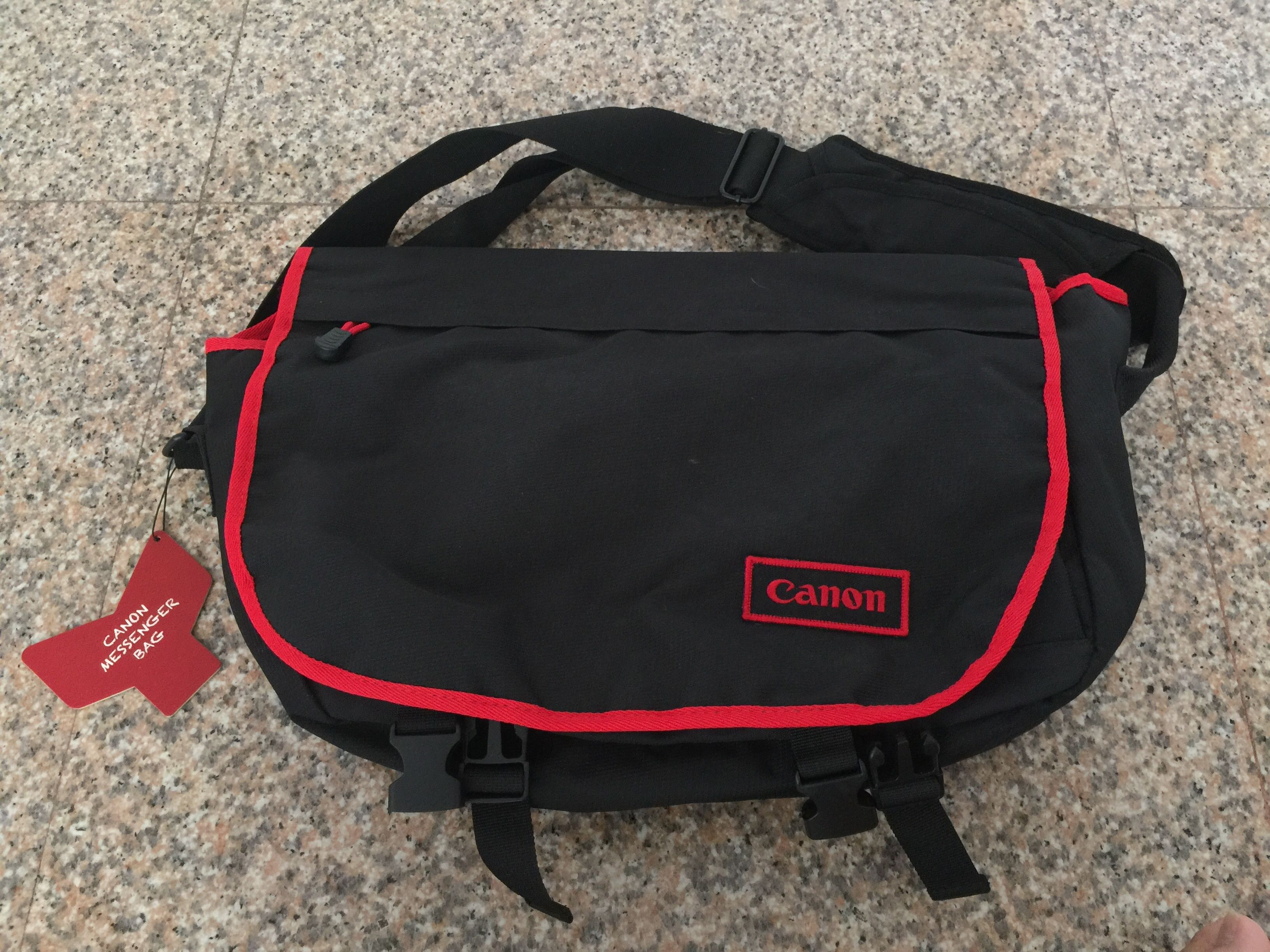 ab1a7260bd44 Canon Red Black Slingbag