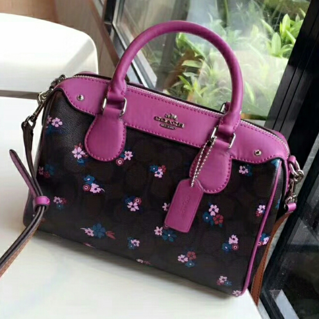 Coach Purple Flower Handbag