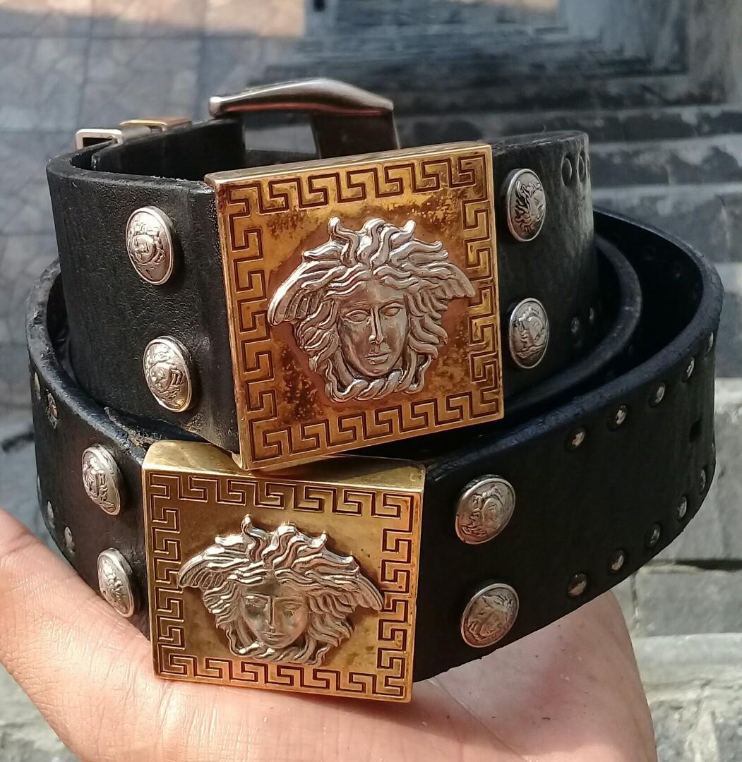 Gianni Versace MEDUSA Leather Belt 100cm Italy Luxury AUTHENTIC ... f0ebe4dd0d