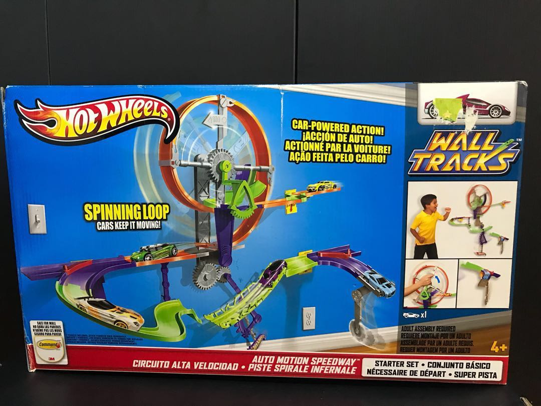 Circuito Hot Wheels : Hot wheels wall mount tracks toys games others on carousell