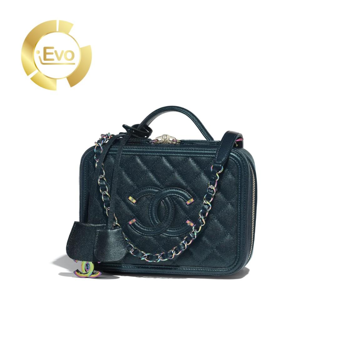 79784a87af1d INSTALMENT PLAN] Chanel Vanity Case Grained Metallic Lambskin ...
