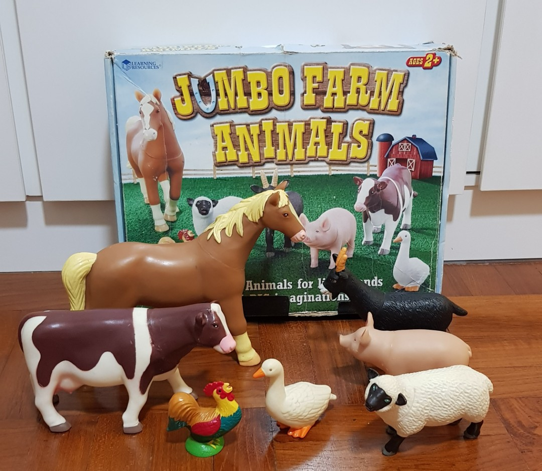 Reserved Learning Resources Jumbo Farm Animals Figurines Toys Games Bricks Figurines On Carousell