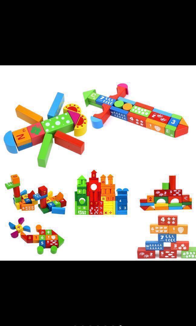 Letters Wooden Building blocks