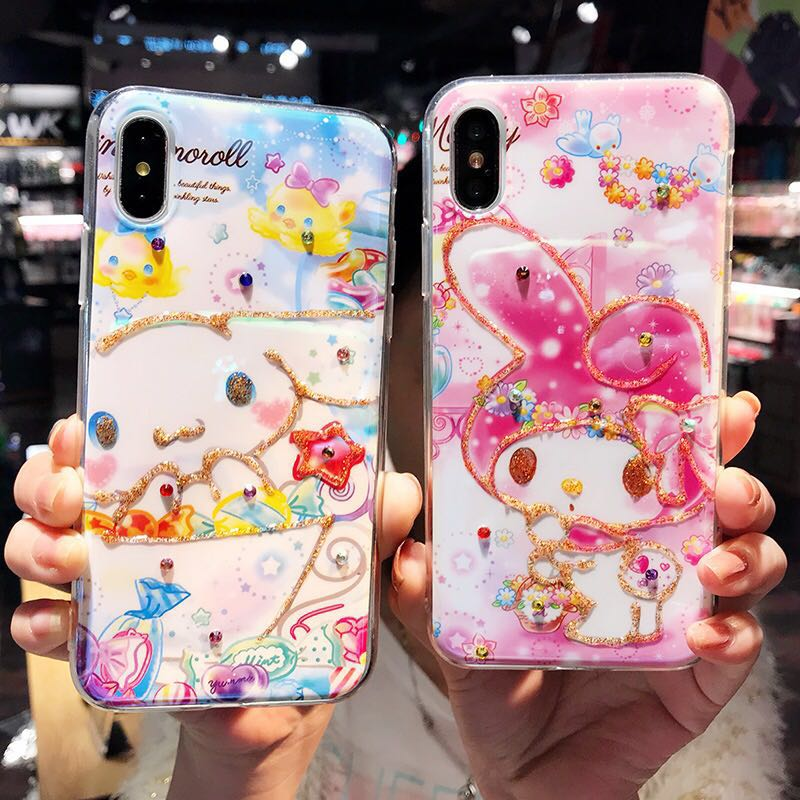 594112abe My Melody and Cinnamon Roll IPhone Silicone Casing, Mobile Phones ...