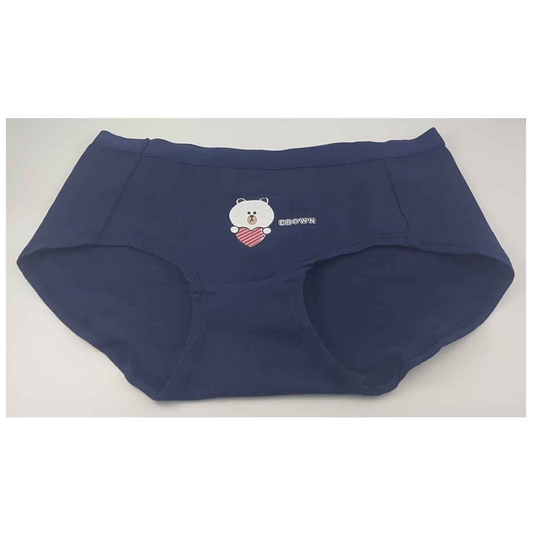 eed9f059f00a Navy Cartoon Cotton Panties, Ladies, Teens, Women's Fashion, Clothes ...