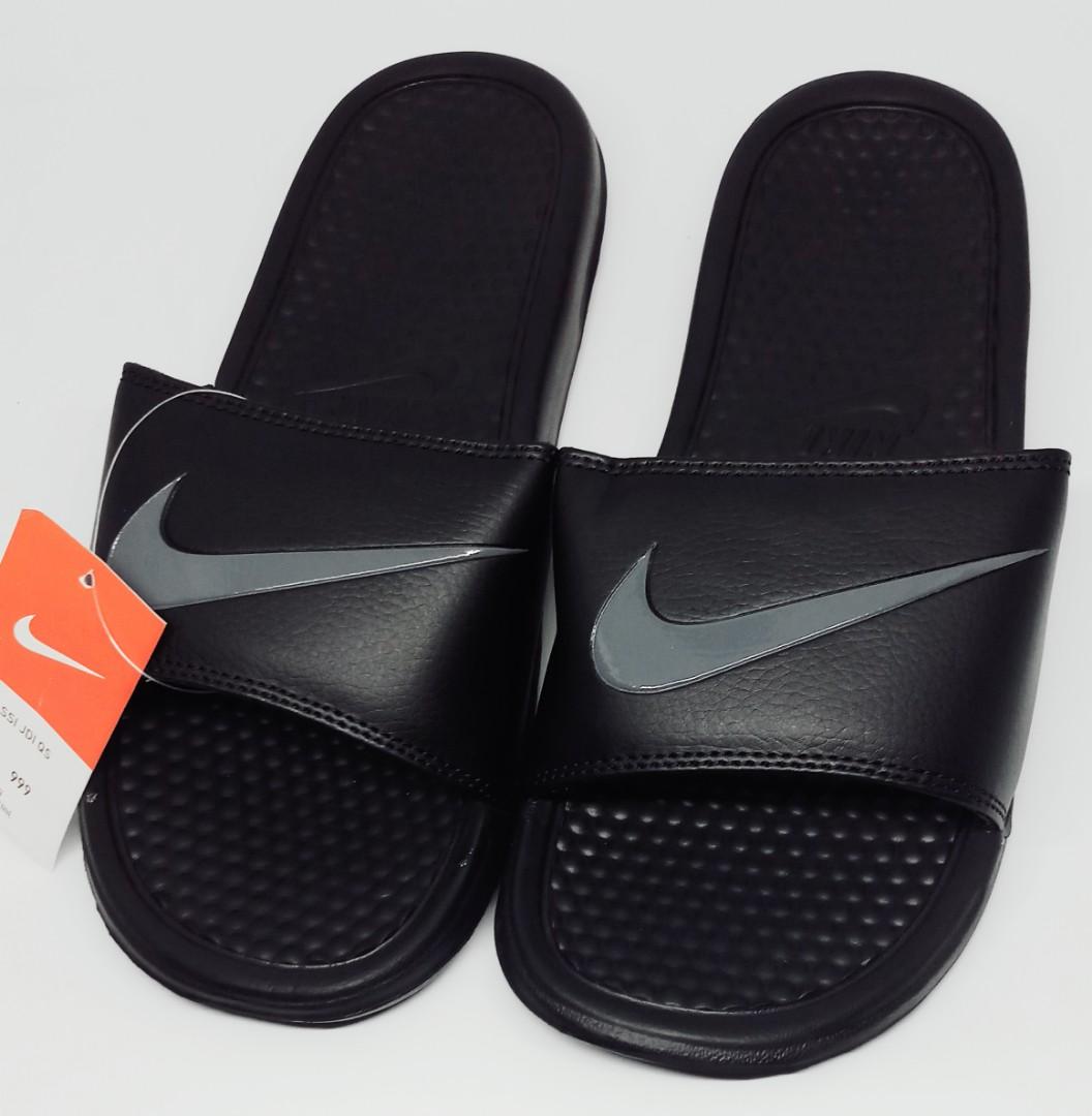 Nike Benassi Slippers - Black Grey (OEM