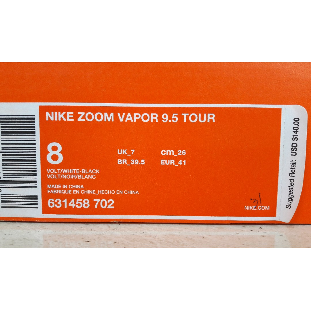 the best attitude 7ad00 8b725 Nike Zoom Vapor 9.5 Tour Tennis Shoes Size US8 UK7 EUR41, Sports, Sports  Apparel on Carousell