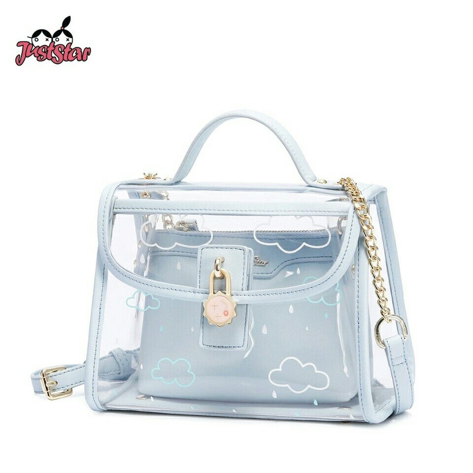 142ff1e4cdc2 Pink Label Women s PVC Waterproof Transparent Handbags Ladies Summer ...