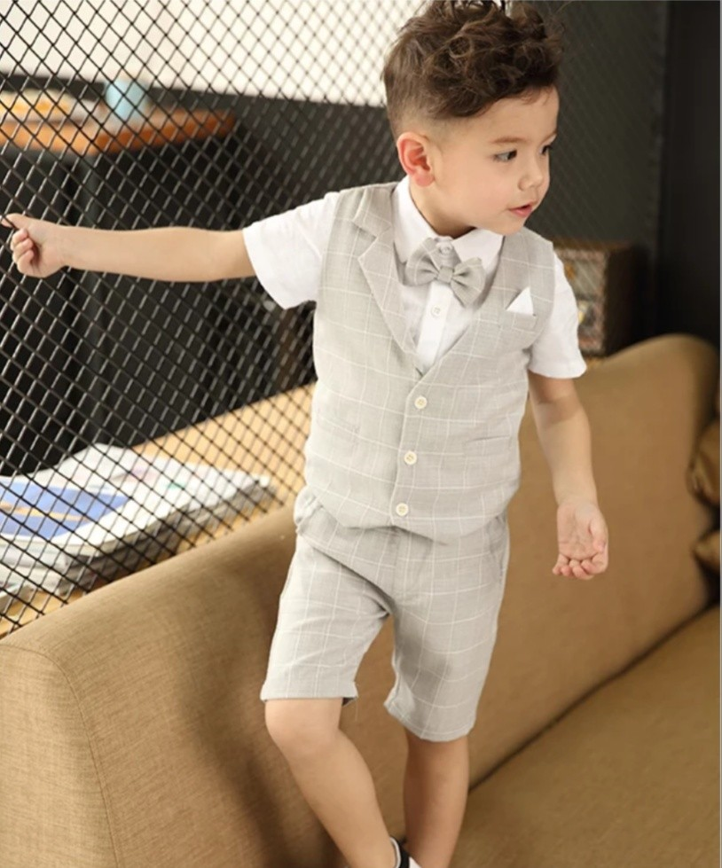fab61ed65b62 PO  Boys light grey 4 piece suit set (many sizes)