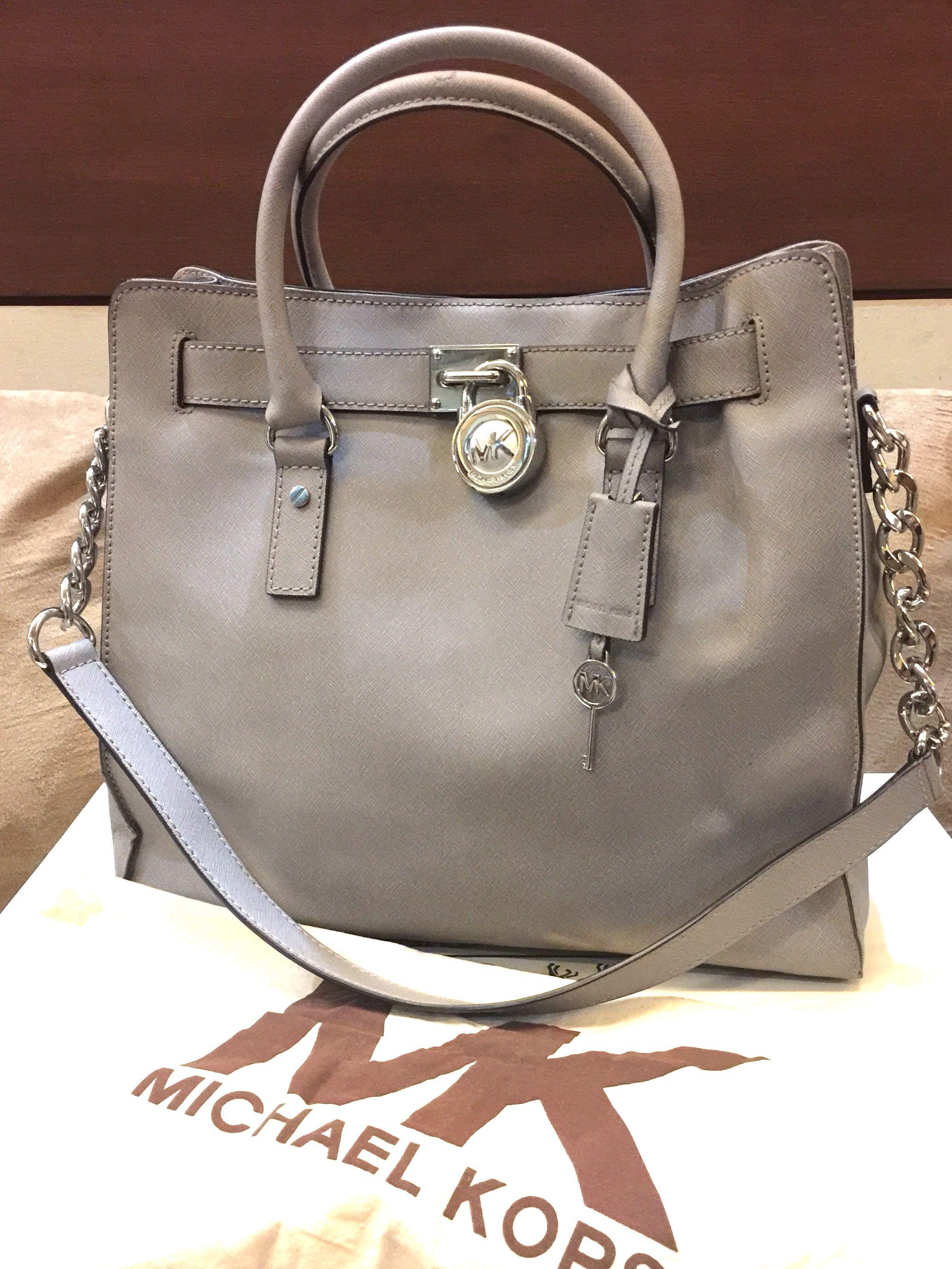 445fa985622eaf PRE-LOVED: MICHAEL KORS Hamilton Large Tote, Women's Fashion, Bags ...