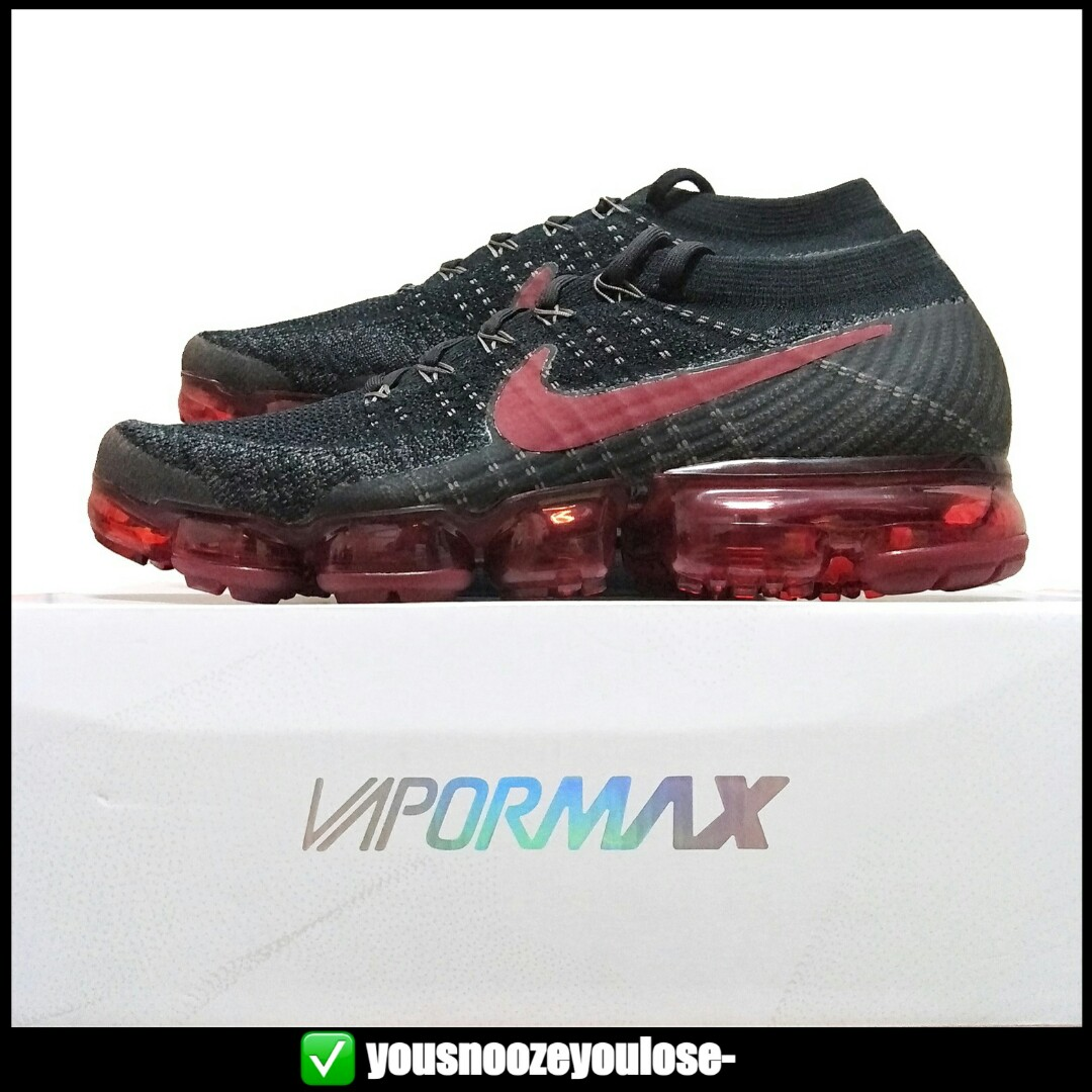 finest selection 5df76 1335b ⚫RETAIL🔴 NIKE AIR VAPORMAX FLYKNIT BRED BLACK RED