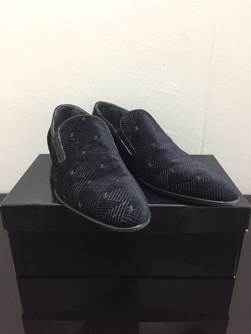 aeeddad7311 SOLD) EU44 Giovanni Conti Velvet Leather Dress Loafers