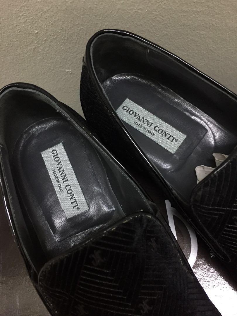 343e16831bc SOLD) EU44 Giovanni Conti Velvet Leather Dress Loafers