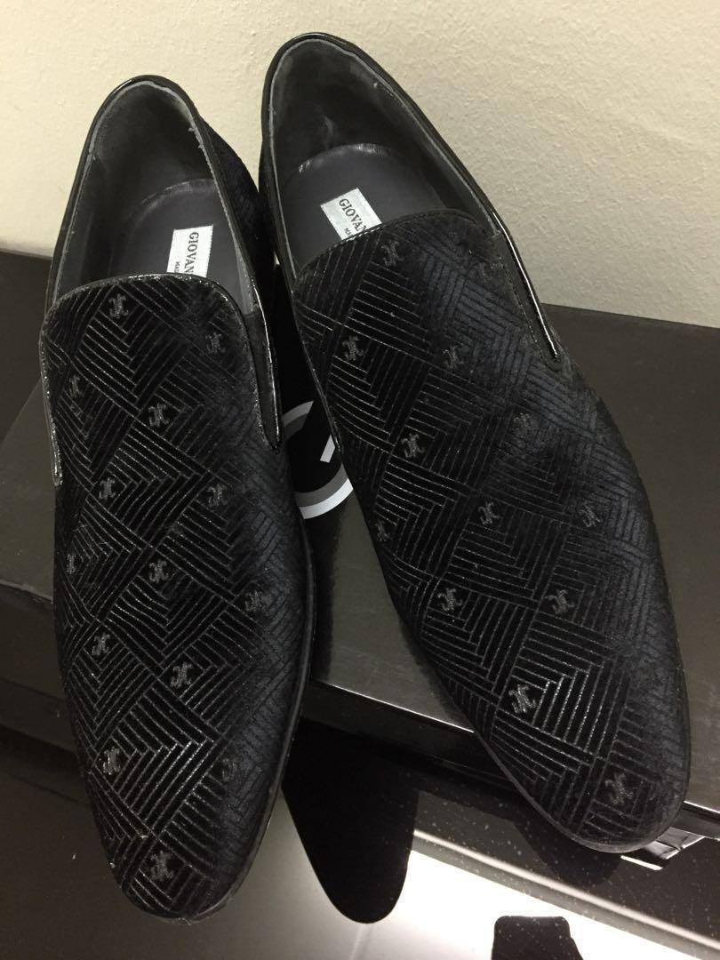 95ea53089de (SOLD) EU44 Giovanni Conti Velvet Leather Dress Loafers