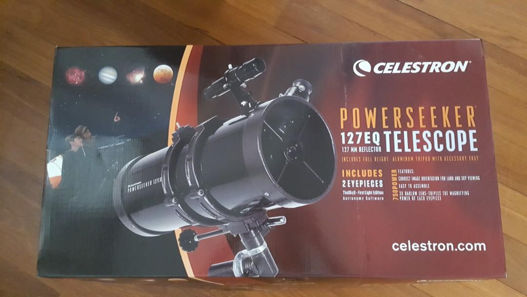 Telescope celestron powerseeker eq everything else on carousell