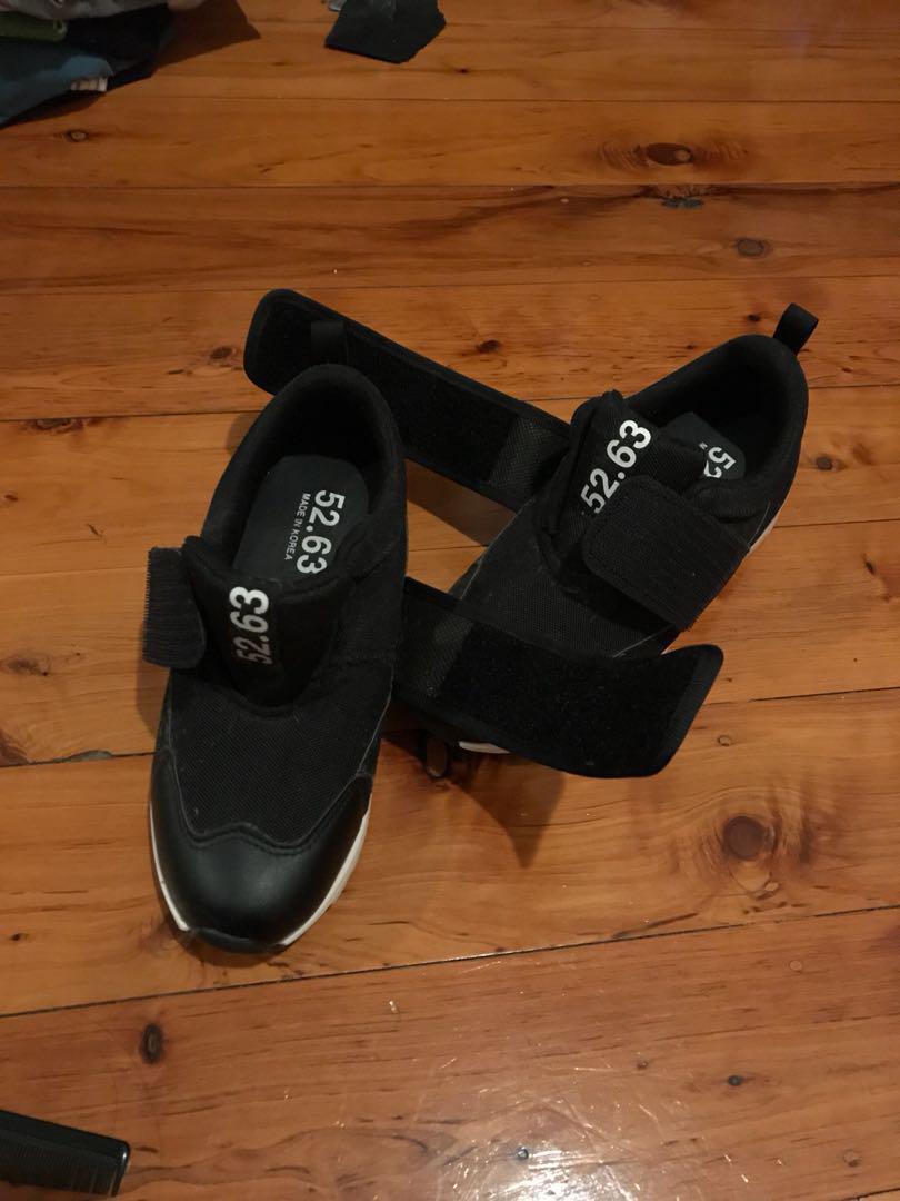 Velcro strap on sneakers