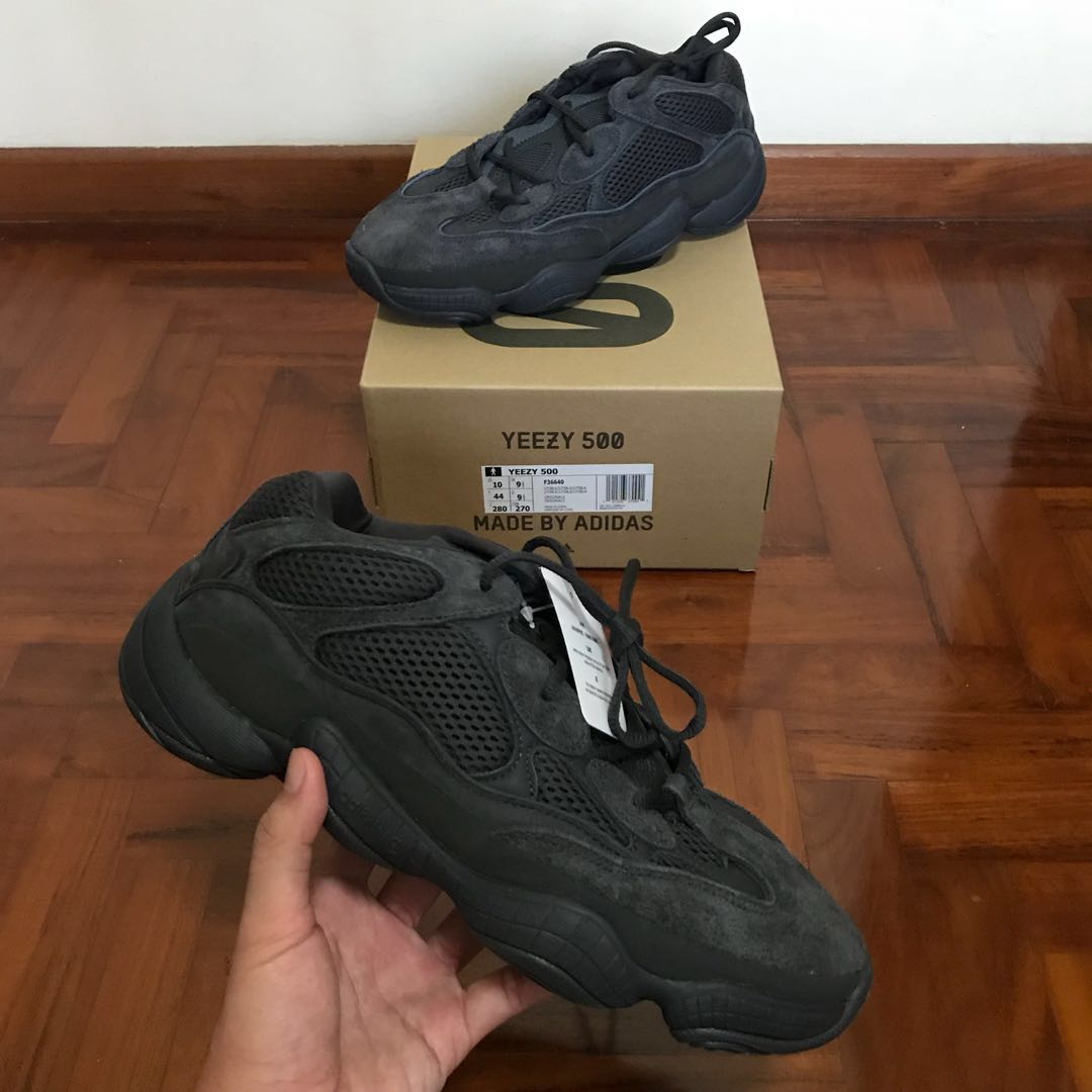 detailed look af7ac 9a23b Yeezy 500 Utility Black