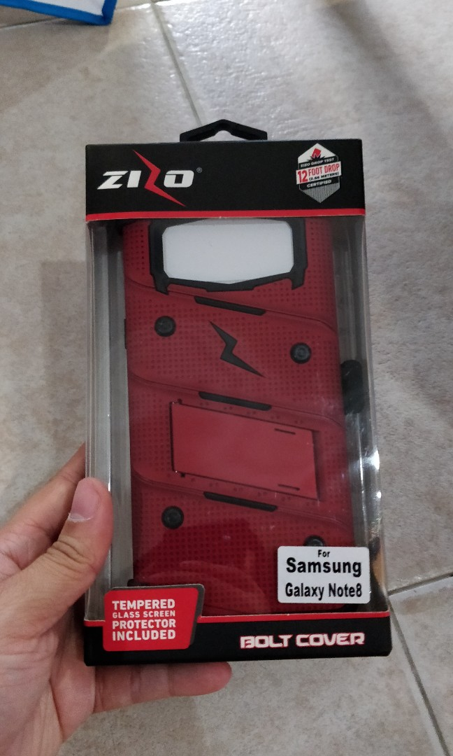 innovative design 01b93 5c1a7 Zizo bolt red black for samsung galaxy note 8