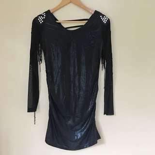 Soft cotton leather blouse